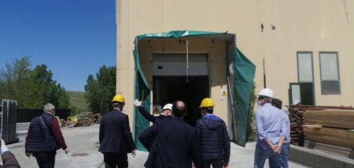 Camerino, prima struttura pubblica completata dopo il sisma: è il mattatoio